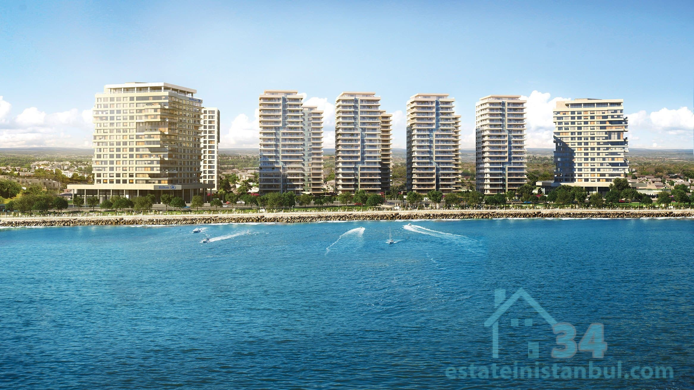 Newly Built Modern & Luxurious TWO Bedroom Apartments By The Sea In The Heart Of Istanbul