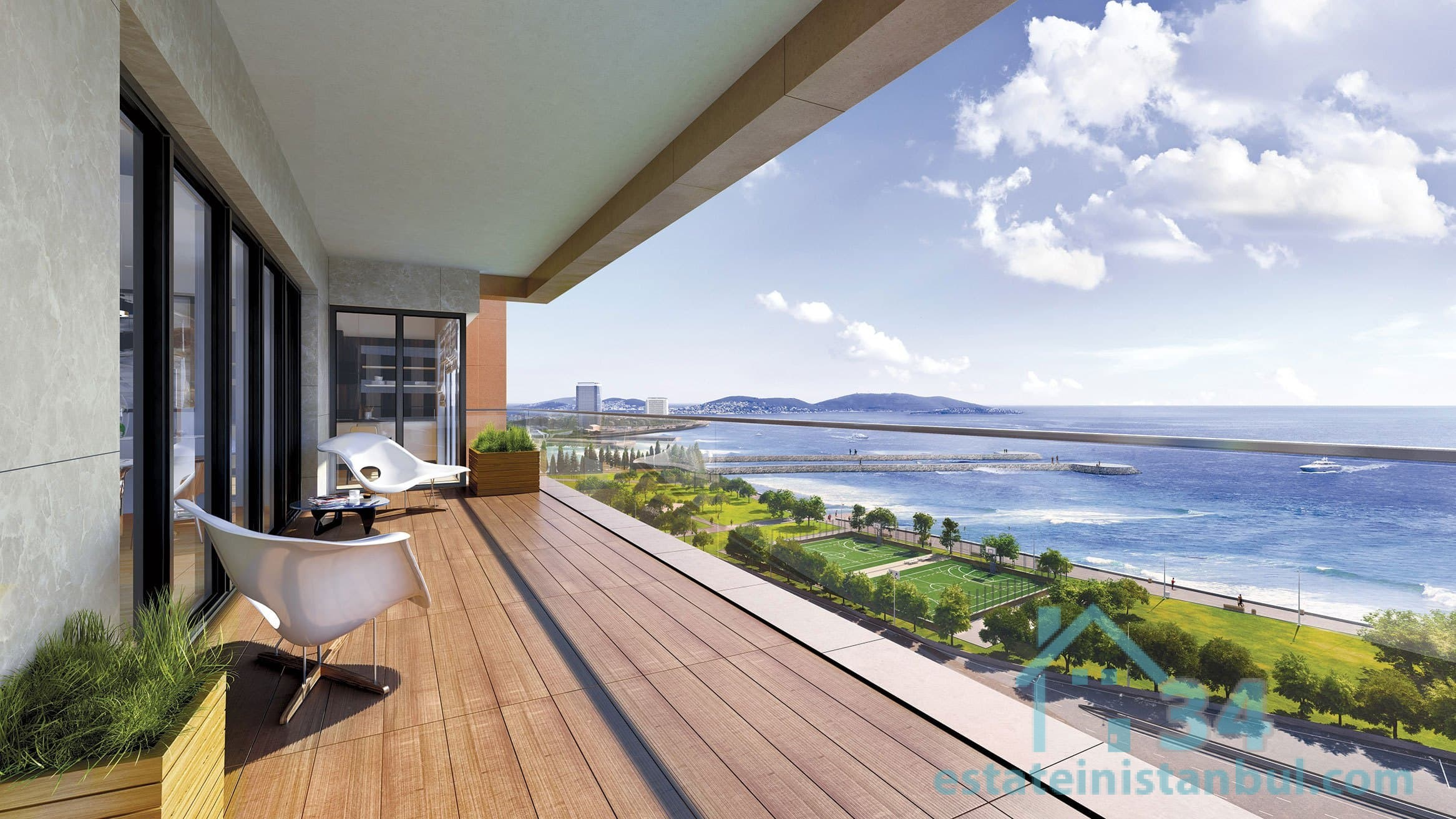 Newly Built Modern & Luxurious THREE Bedroom Apartments By The Sea In The Heart Of Istanbul
